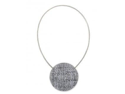 Dekorační ozdobná spona na závěsy s magnetem CONTE, světlá šedá, Ø 3,5 cm Mybesthome
