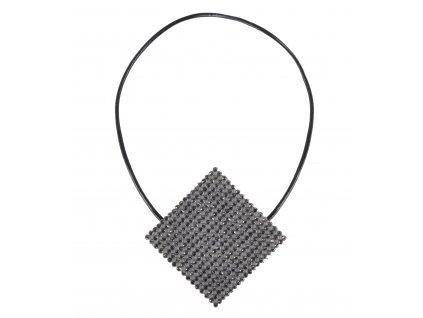 Dekorační ozdobná spona na závěsy s magnetem JIRMA, šedá, 6x6 cm Mybesthome