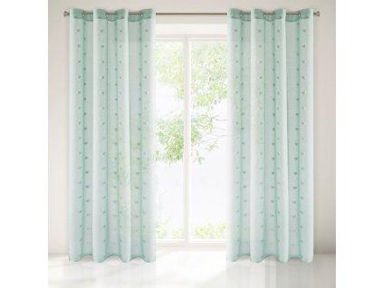 Dekorační vzorovaná záclona LOVELY mátová 140x250 cm MyBestHome