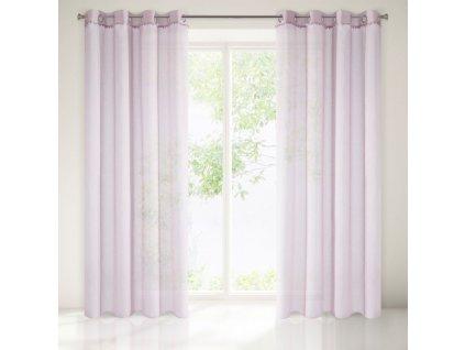 Dekorační vzorovaná záclona BALLE růžová 140x250 cm MyBestHome