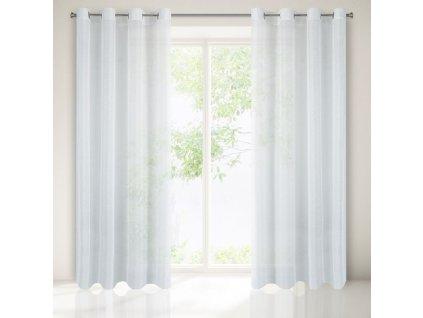 Dekorační záclona EMMA bílá s kroužky 140x250 cm MyBestHome
