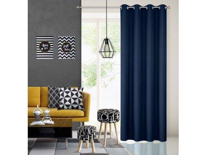 Dekorační závěs EASY TOP tmavě modrá 1x140x250 cm MyBestHome
