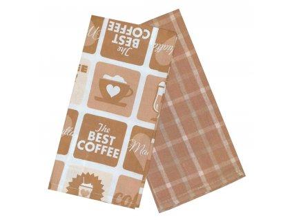 Utěrka PATISSERIE 100% bavlna, 2 kusy, béžová, 45x65 cm Essex