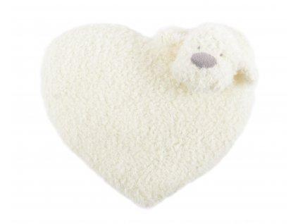 Polštářek tvarovaný HEART - PEJSEK mikrovlákno 35 cm, Essex