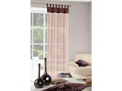 Dekorační záclona LIANA hnědá 140x250 cm MyBestHome