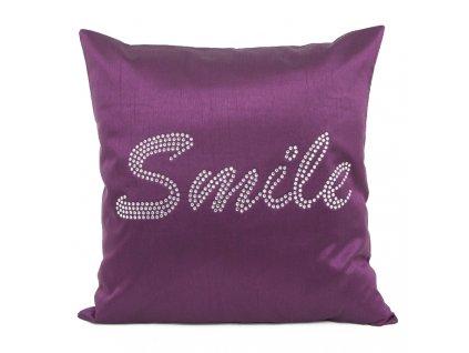 Polštář SMILE fialová MyBestHome 40x40cm