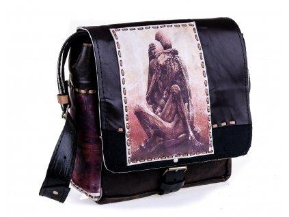 Luxusní kožená taška pře rameno s motivem 30x34x10 cm, Mybesthome