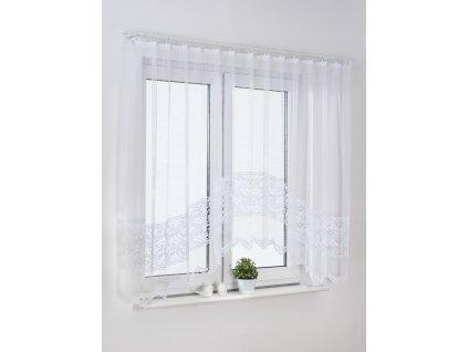 Dekorační oblouková krátká záclona VERONIKA bílá 300x150 cm MyBestHome