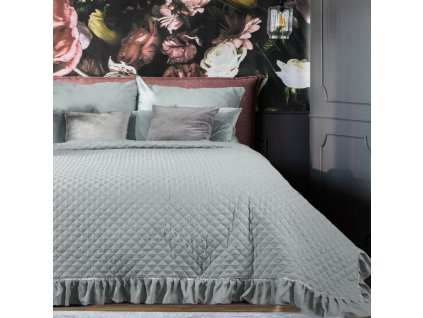 Přehoz na postel EWELYNA 220x240 cm stříbrná Mybesthome