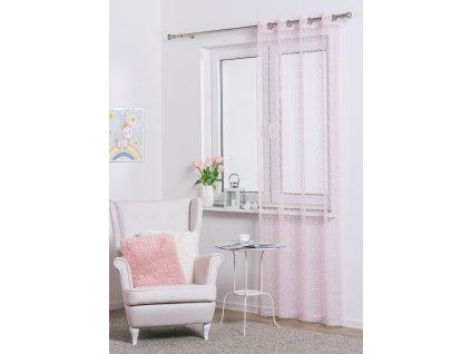 Dekorační síťovaná záclona REDA růžová 140x245 cm MyBestHome