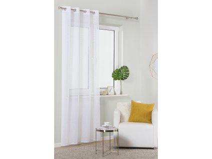 Dekorační záclona TRESSE bílá s kroužky 140x250 cm MyBestHome