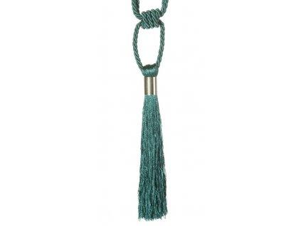Dekorační ozdobný úvaz - šňůra na závěsy ZORA 21 cm, tyrkysová, Mybesthome