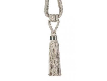 Dekorační ozdobný úvaz - šňůra na závěsy ULRIKA 16 cm, béžová, Mybesthome