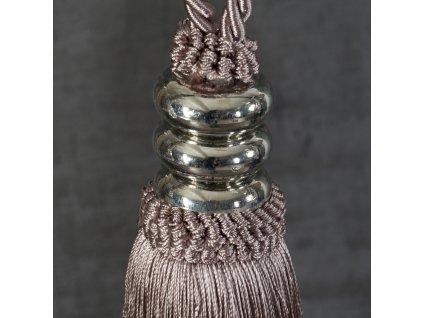 Dekorační ozdobný úvaz - šňůra na závěsy ULRIKA 16 cm, růžová, Mybesthome