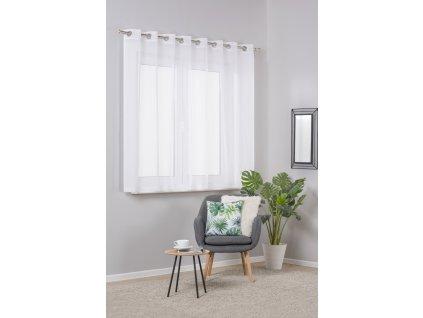 Dekorační krátká záclona s kroužky DIANA bílá 290x160 cm MyBestHome