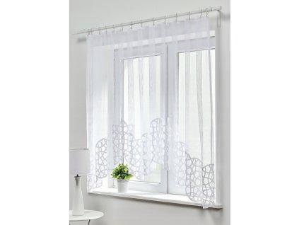 Dekorační oblouková krátká záclona MONIKA bílá 300x150 cm MyBestHome