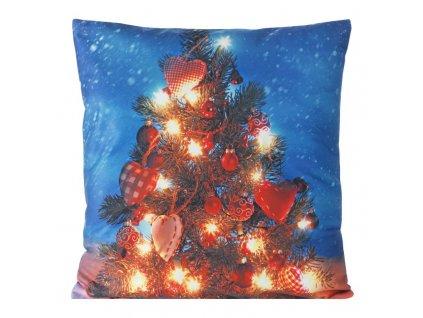 Polštář CHRISTMAS LIGHT 06 MyBestHome 40x40cm zimní motiv - svítící polštářek