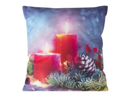Polštář CHRISTMAS LIGHT 07 MyBestHome 40x40cm zimní motiv - svítící polštářek