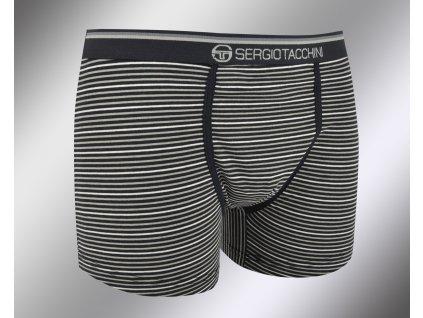 Pánské boxerky 10675 černá Sergio Tacchini