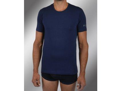 """Pánské spodní prádlo - tričko s krátkým rukávem, výstřih do """"U"""" TM550, modrá, Sergio Tacchini"""