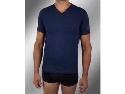 """Pánské spodní prádlo - tričko s krátkým rukávem, výstřih do """"V"""" TV550, modrá, Sergio Tacchini"""