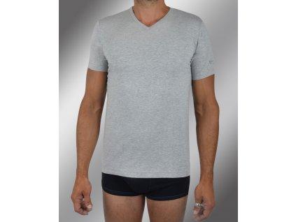 """Pánské spodní prádlo - tričko s krátkým rukávem, výstřih do """"V"""" TV550, šedá, Sergio Tacchini"""