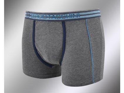 Pánské vzorované boxerky 17870 grigio Sergio Tacchini