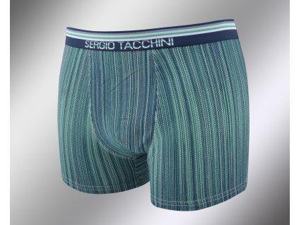 Pánské vzorované boxerky 17895 verde Sergio Tacchini
