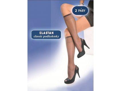 ELASTAN CLASSIC dámské podkolenky 15 DEN, 2 páry, KNITTEX (Varianta černá, vel. uni)
