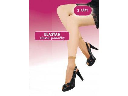 ELASTAN CLASSIC dámské ponožky 15 DEN, 2 páry, KNITTEX (Varianta opálená, vel. uni)