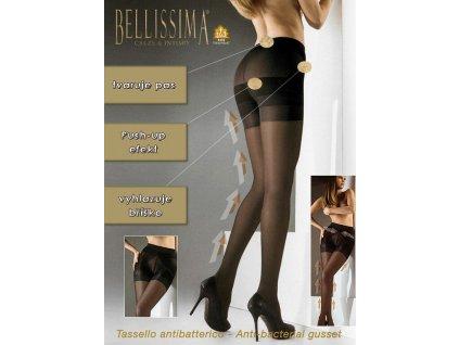SHAPER PUSH UP dámské punčochové kalhoty se stahující kalhotkou a push up efektem 40 DEN BELLISSIMA (Varianta opálená, vel. 2)