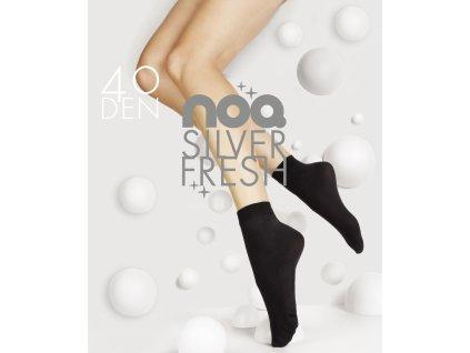 SILVER FRESH dámské ponožky s ionty stříbra 40 DEN, 1 pár, KNITTEX (Varianta černá, vel. uni)