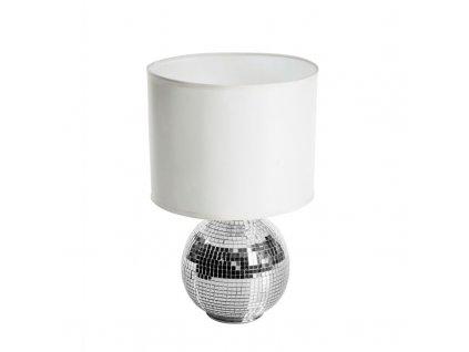 Stolní lampa GORAN 20x20x24 cm stříbrná Mybesthome