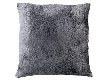 Polštář GRENLAND 40x40 cm tmavě šedá, mikrovlákno, ESSEX