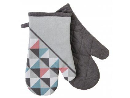 Kuchyňské bavlněné rukavice - chňapky SCOPE bílá/růžová, 100% bavlna 19x30 cm Essex