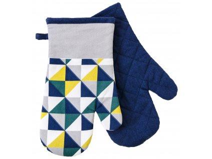 Kuchyňské bavlněné rukavice - chňapky SCOPE bílá/žlutá 100% bavlna 19x30 cm Essex