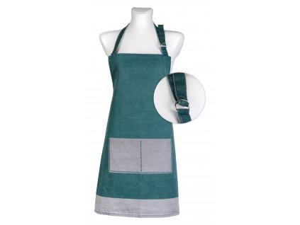Kuchyňská bavlněná zástěra UNIVERSAL tyrkysová, Essex, 100% bavlna