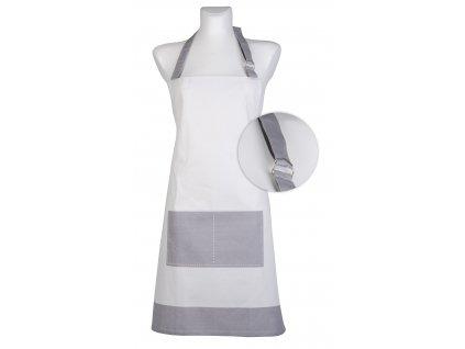 Kuchyňská bavlněná zástěra UNIVERSAL světle šedá, Essex, 100% bavlna