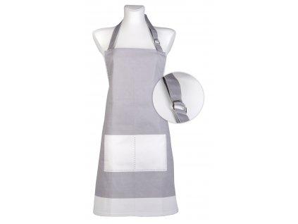 Kuchyňská bavlněná zástěra UNIVERSAL tmavě šedá, Essex, 100% bavlna