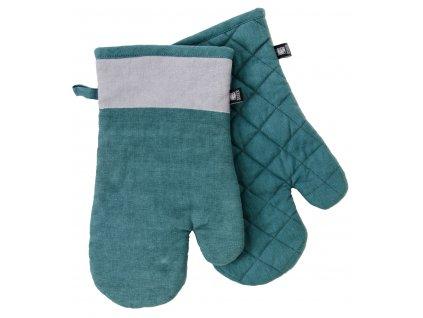 Kuchyňské bavlněné rukavice - chňapky UNIVERSAL tyrkysová, 100% bavlna 19x30 cm Essex