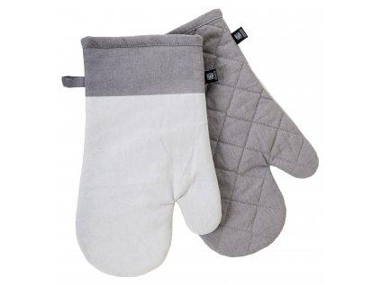 Kuchyňské bavlněné rukavice - chňapky UNIVERSAL světle šedá, 100% bavlna 19x30 cm Essex