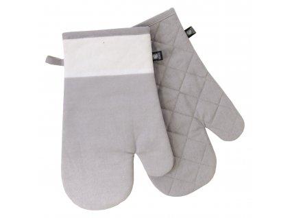 Kuchyňské bavlněné rukavice - chňapky UNIVERSAL tmavě šedá, 100% bavlna 19x30 cm Essex