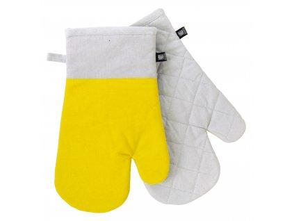 Kuchyňské bavlněné rukavice - chňapky UNIVERSAL žlutá, 100% bavlna 19x30 cm Essex