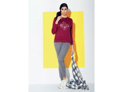Dámské interlokové zimní pyžamo IN UP WOMEN 23827 Sergio Tacchini