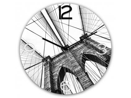 Skleněné nástěnné hodiny BROOKLYN Ø 30 cm Styler