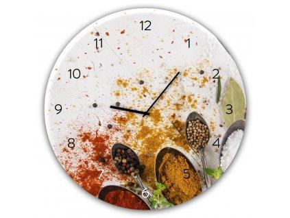 Skleněné nástěnné hodiny SPOON Ø 30 cm Styler