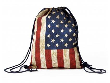 Vak na záda 22 Americká vlajka MyBestHome 41x32 cm