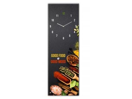 Skleněné nástěnné hodiny GOOD FOOD 20x60 cm Styler