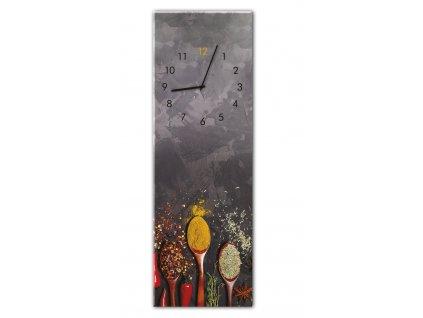 Skleněné nástěnné hodiny SPOONS 20x60 cm Styler