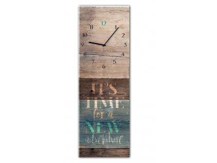 Skleněné nástěnné hodiny ADVENTURE 20x60 cm Styler